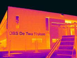 Thermografie bij een school in Grou in Friesland